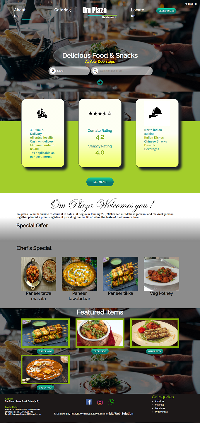 Omplaza Restaurant - Food and Snacks